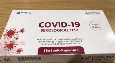 Test sierologico covid 19 fai da te, autotest a casa tua.
